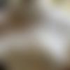 Pull blanc scintillant torsadé,  tricot fait main,  cadeau noel
