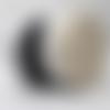 20 mètres sangle coton 40mm - noir blanc ou ecru