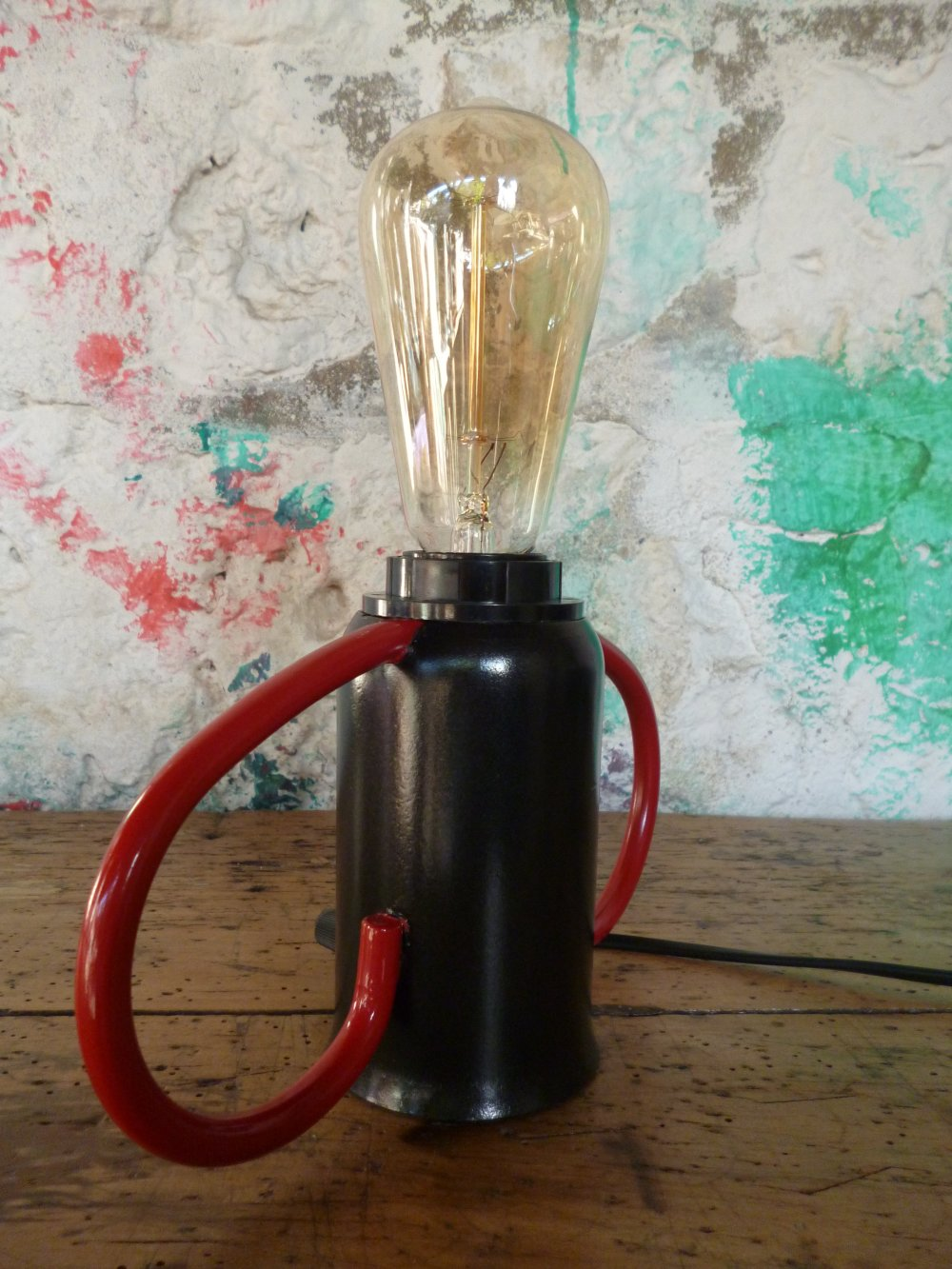 Lampe industrielle - vintage - upcycling- metal
