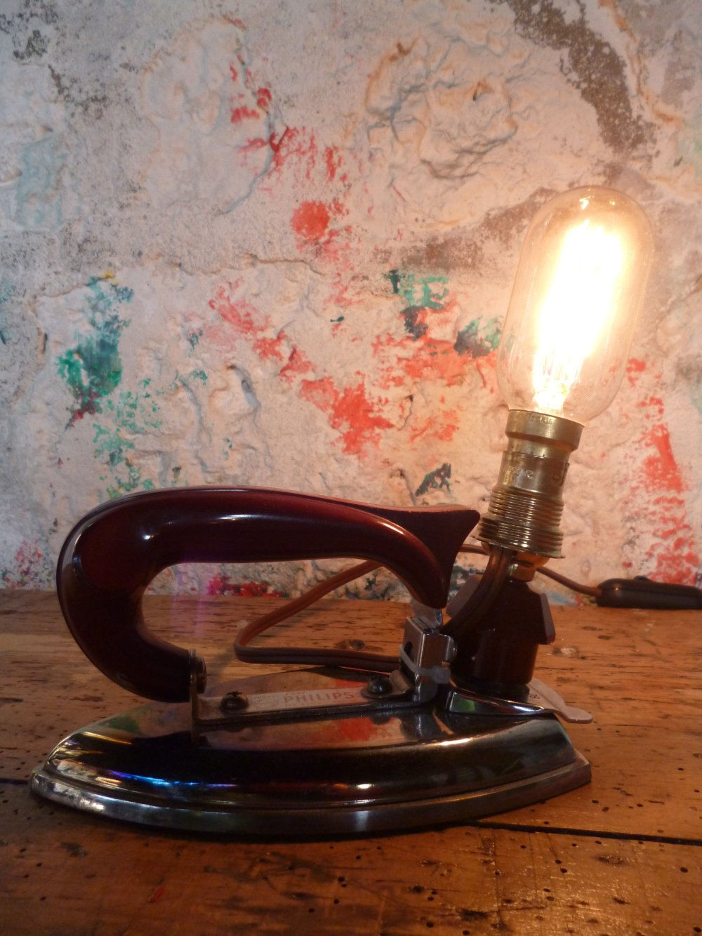 Lampe vintage - upcycling - industrielle - metal
