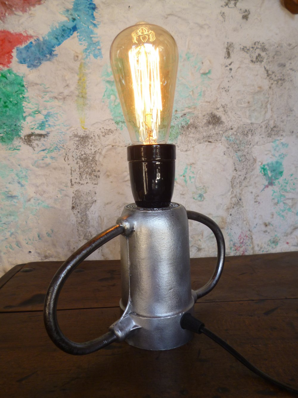 Lampe industrielle - metal - vintage - upcycling