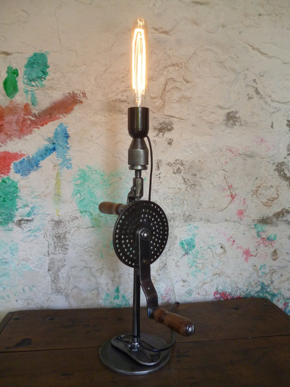 Lampe industrielle - vintage - upcycling -