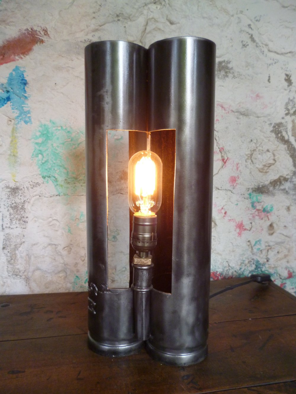 Lampe industrielle - vintage - upcycling - metal