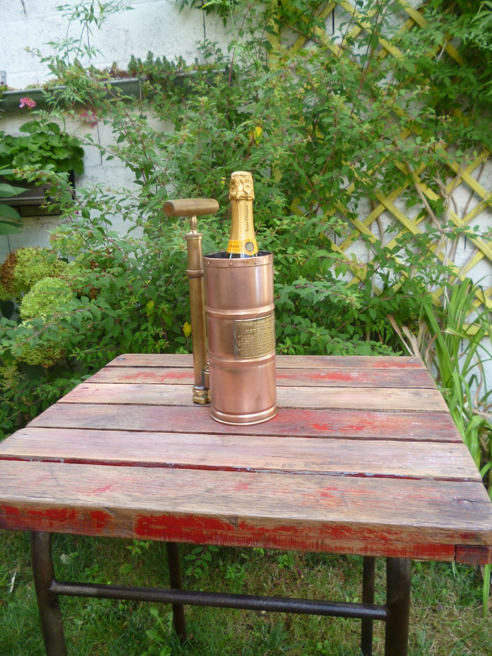 Seau a champagne - Pulverisateur - Upcycling