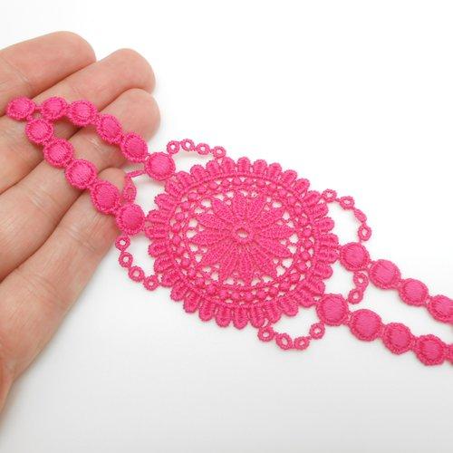 Applique en coton rose rose