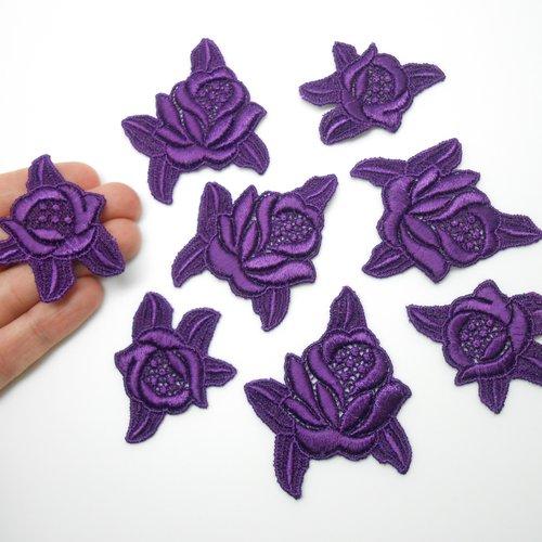 8 roses en guipure