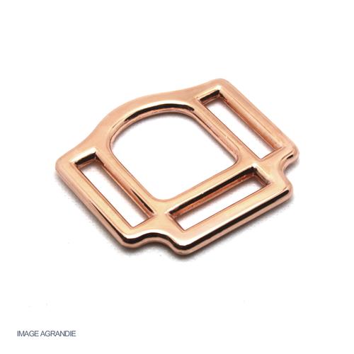 Boucle carré de licol métal rose