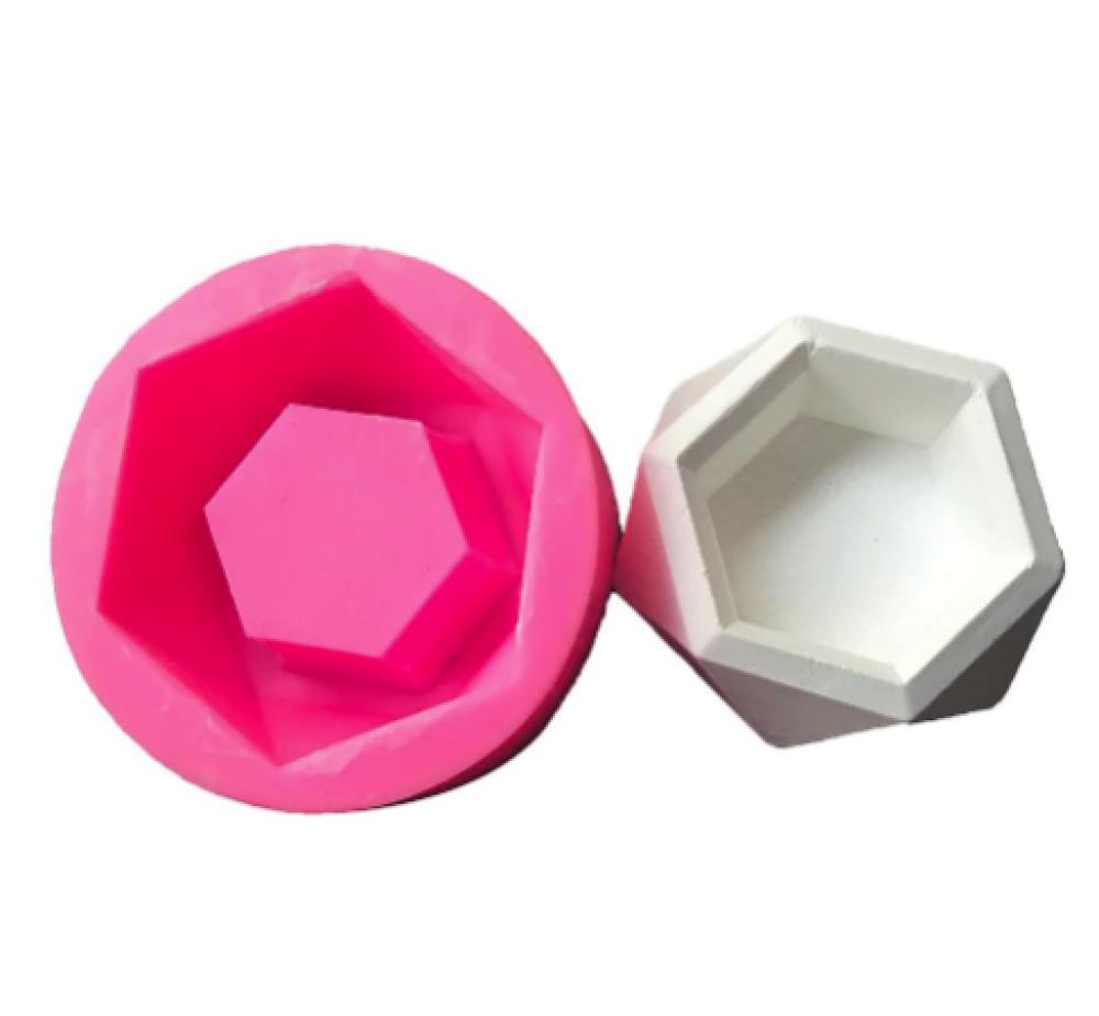 Moule en siliconne pour pot graphique en béton