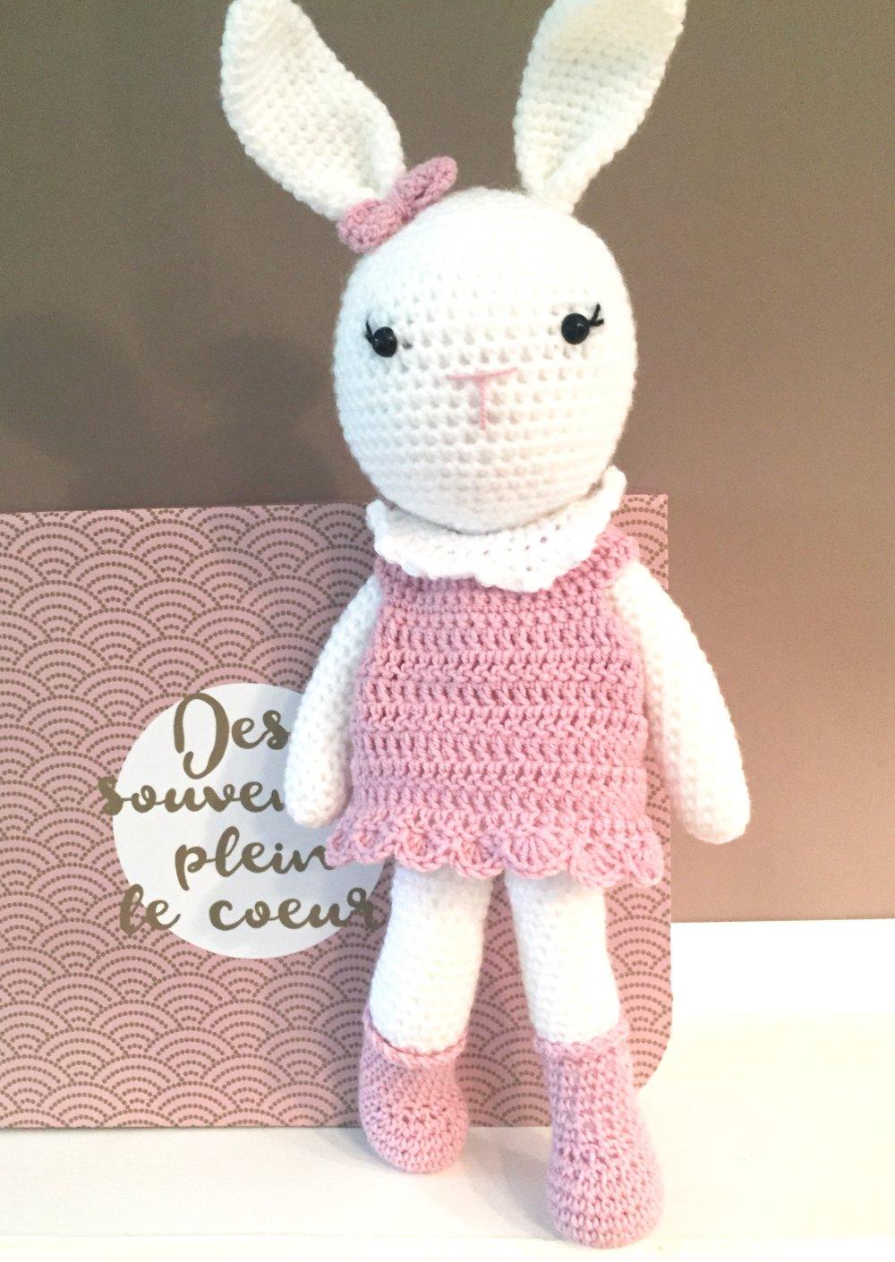 Amigurumi crochet lapin cadeau naissance