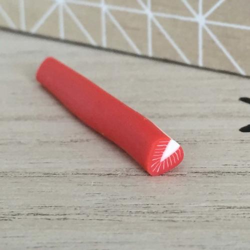 Cane fimo fraise rouge