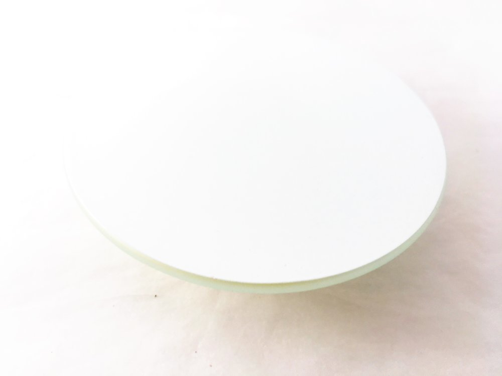 Le Sous Verre à l'unité - En verre, forme ronde