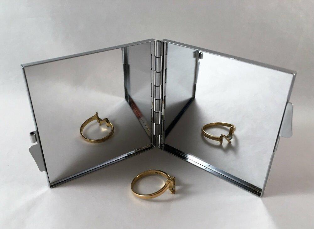 Miroir,miroir de poche,de sac, miroir pliable carré