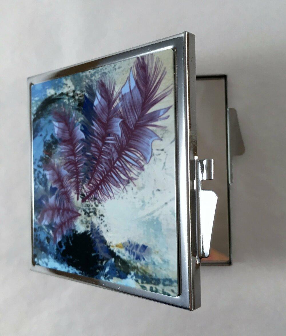 Miroir de poche, de sac, miroir pliable carré