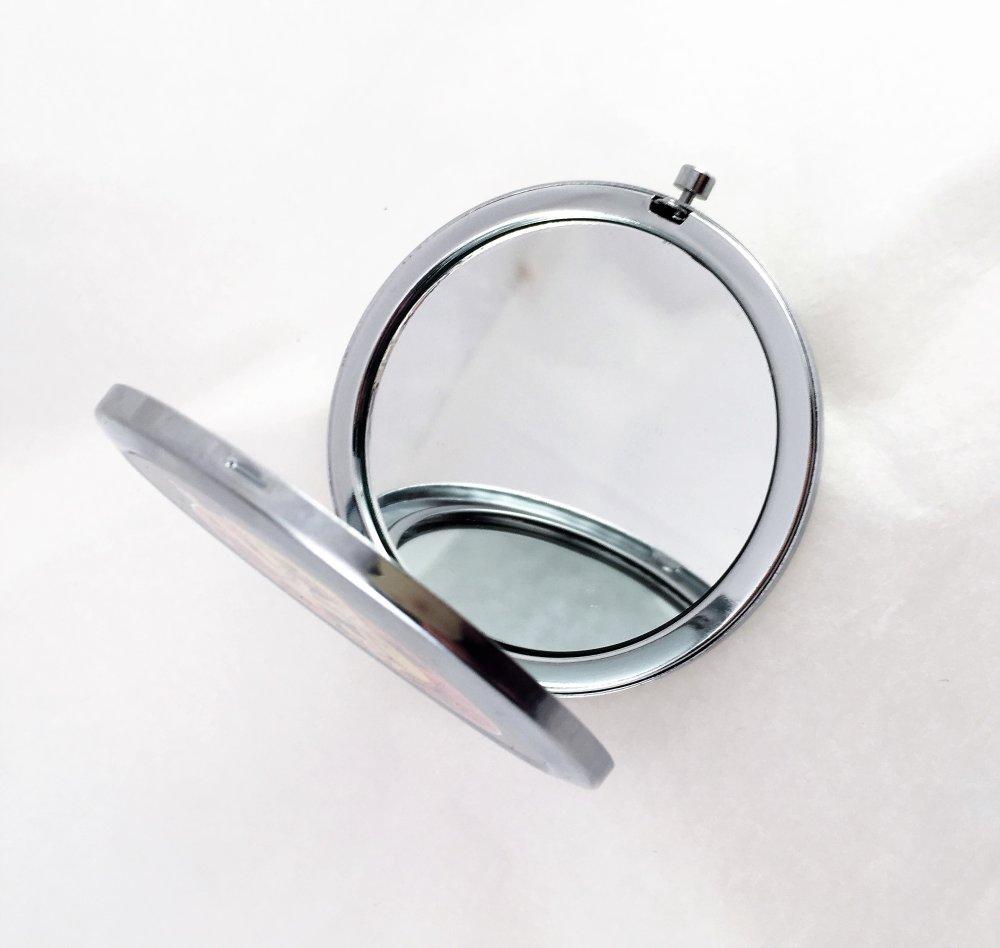 Miroir de poche,de sac, rond et pliable,