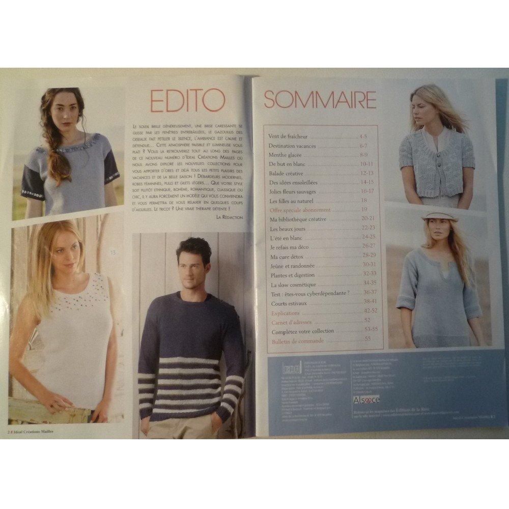 Magazine de tricot IDEAL Créations Maille n° 34