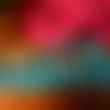 Petite dentelle frou-frou stretch turquoise 2 cm large