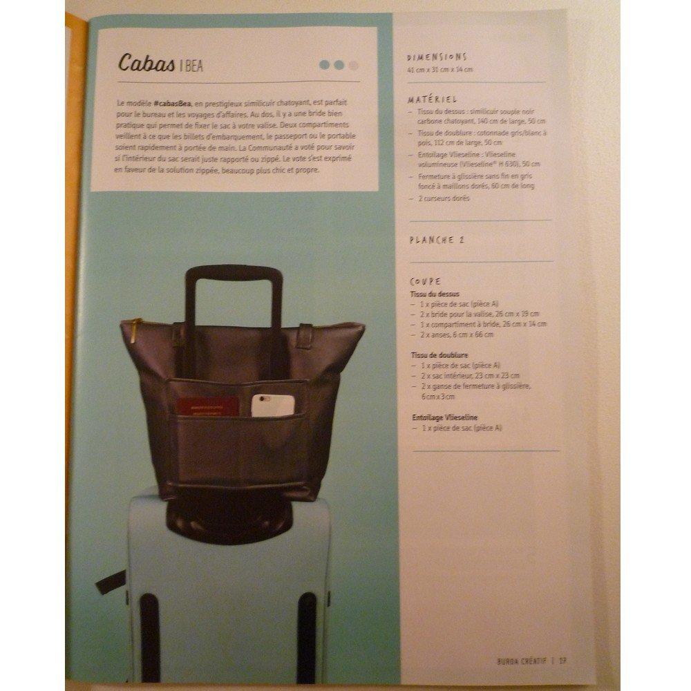Magazine couture  BURDA Créatifs –Je crée mon sac