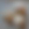 3 grosses pelotes laine mélangée ivoire