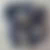 """10 pelotes de laine mélangée de couleur bleu """"jean"""""""