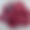 10 pelotes lin mélangé viscose rose fuchsia