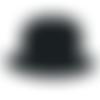 Ecusson thermocollant chapeau melon noir