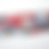 Bandeau jersey imprimé moucheté rouge , bleu et noir