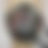 Masque femme en tissu fond noir imprimé fond marin