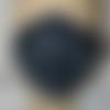 Masque homme tissu fond bleu marine imprimé portraits de marins
