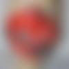 Masque homme tissu fond rouge   imprimé théme motos vintage