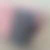 Trousse maquillage tissu rose et gris