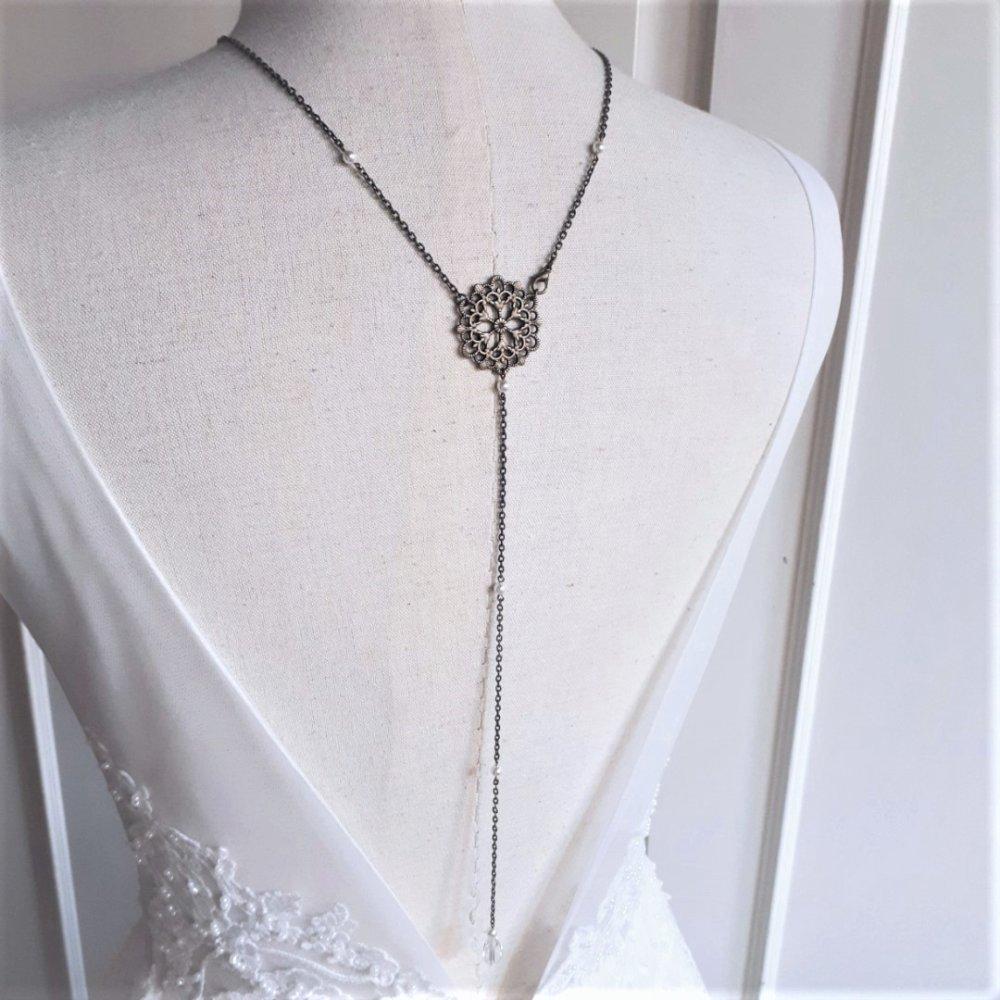 Emma - Headband bronze pour mariage avec perles swarovski, Bijou de tête, mariée,Accessoires mariage,Headband retro