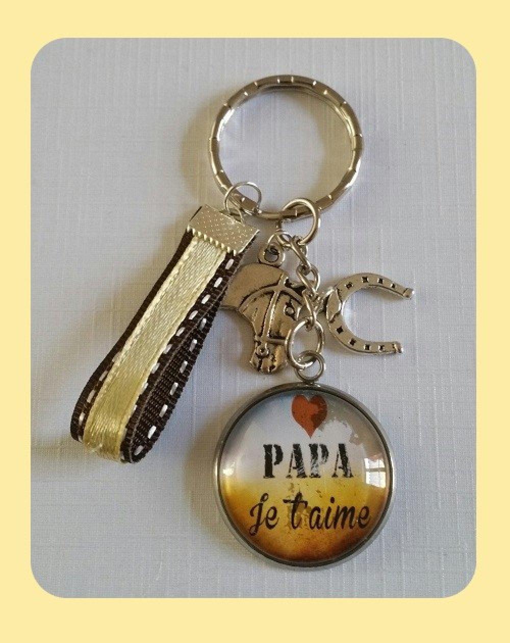 Porte-clés Papa équitation