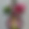 Porte-clés fée clochette rose