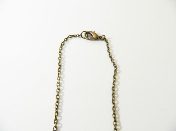 Collier long bronze chevron