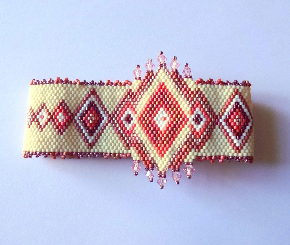 Bracelet manchette oriental tissé