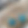 Boucles d'oreille pendantes étoile de mer bleue
