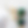 Boucles d'oreilles en azurite chrysocolle  vert et ivoire