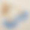 Pompons éventail bleu ciel