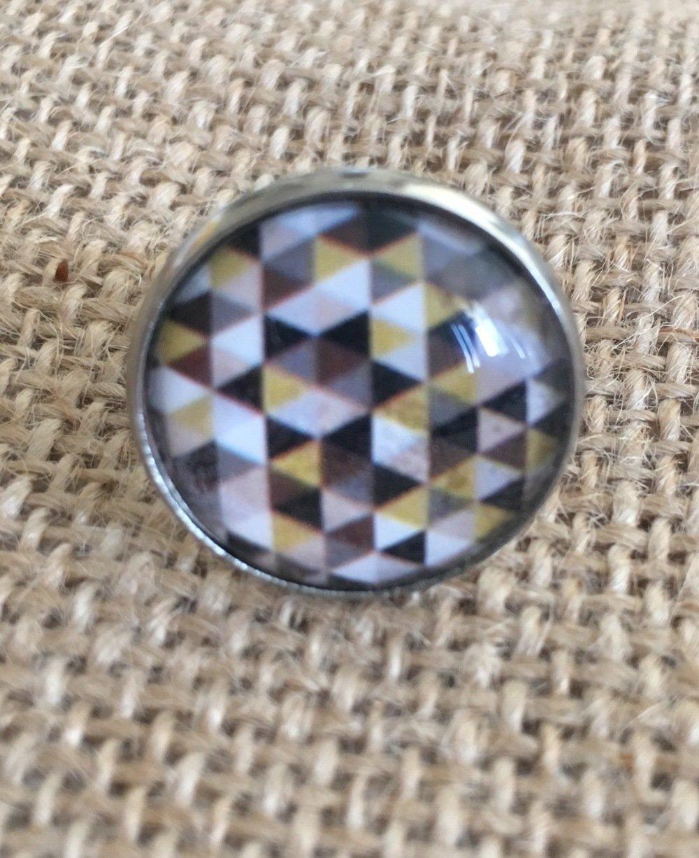 Bague réglable cabochon forme geometrique - Les Bijoux de Melou