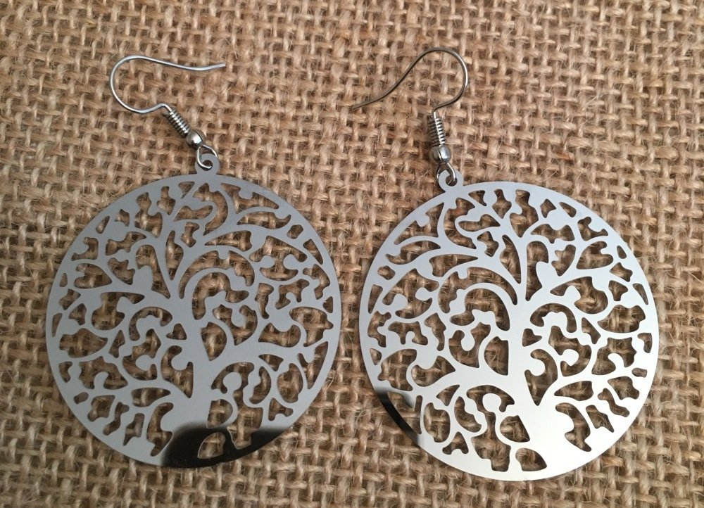 Boucles oreilles filigrane arbre de vie  - Les Bijoux de Melou