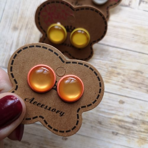 Boucles d'oreilles oranges