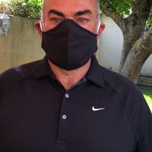 Masque homme tissu noir