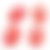 1 cabochon ovale 18x25mm en résine feuille doré rouge