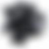 2 cabochons rond 10mm en résine paillette noir