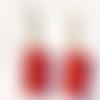 """Paire de boucles d'oreille pour femme """"glitter rosso"""""""