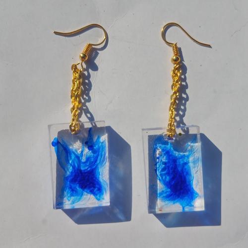 """Paire de boucles d'oreille pour femme """"blu"""""""