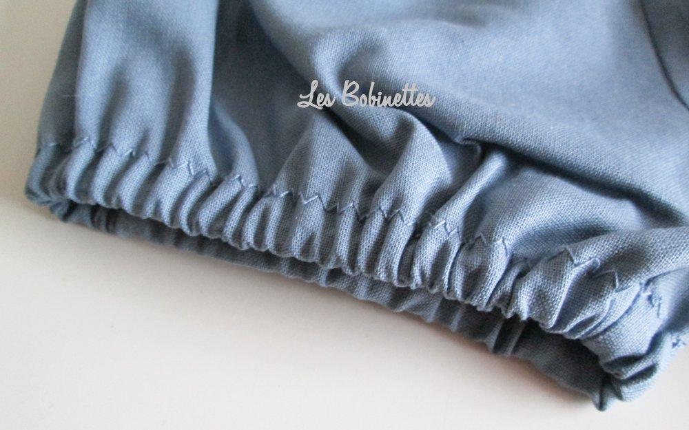 Bloomer bébé taille 0-3 mois en coton bleu