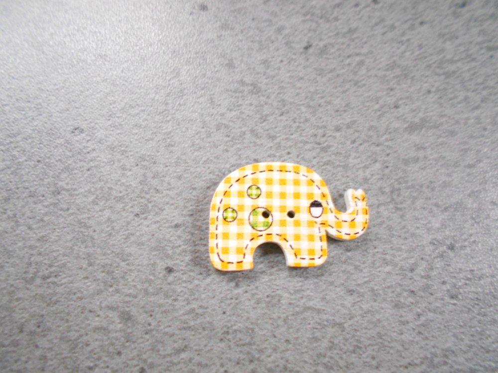 Bouton fantaisie forme éléphant