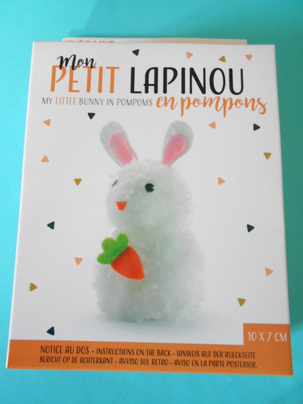 Kit créatif pompons petit lapin