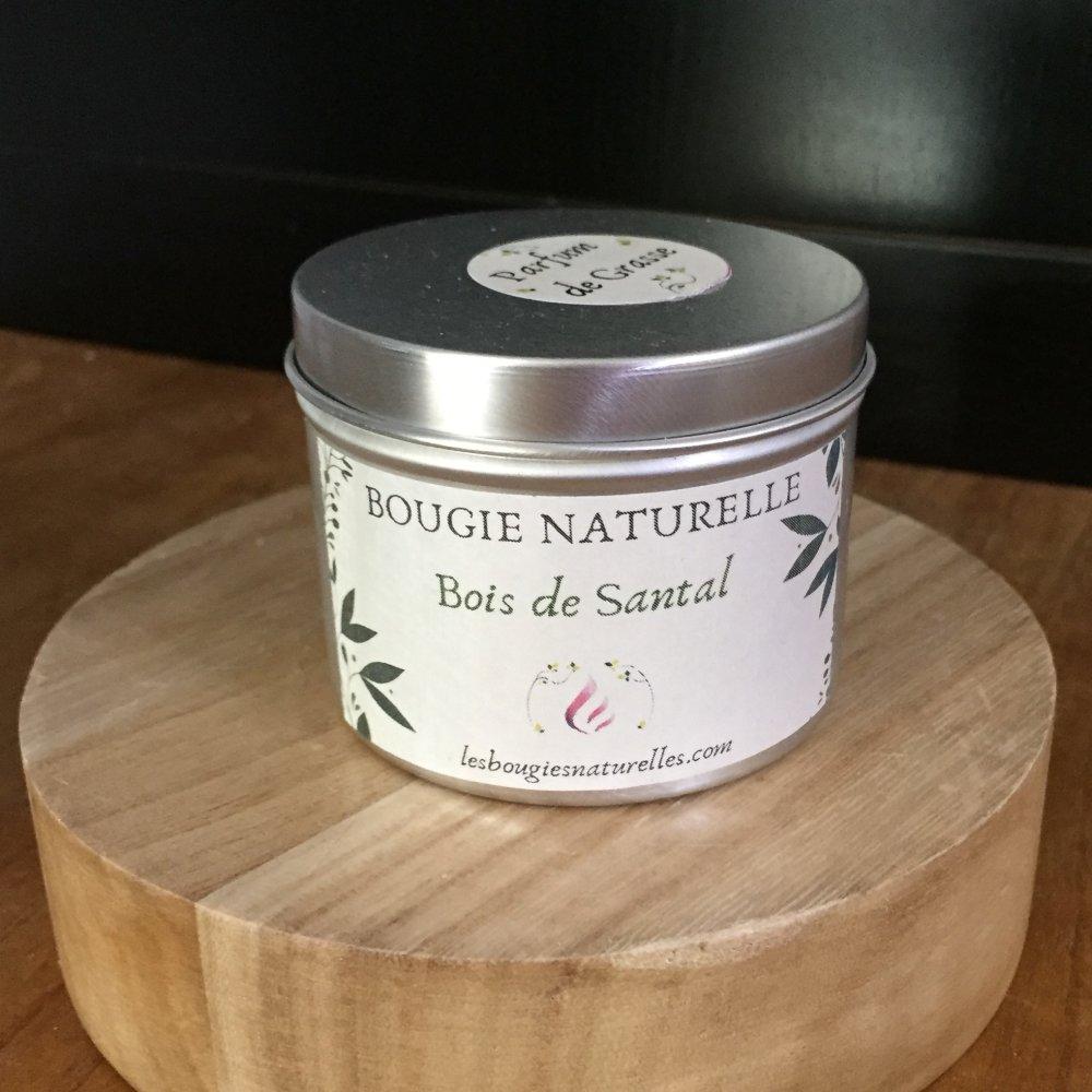Bougie naturelle Bois de Santal parfum de grasse +40h
